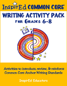 Anchor Writing Activity Pack 6-8